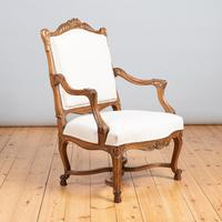 Pair of Large French Walnut & Parcel-Gilt Armchairs (6 of 10)