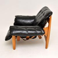 "Vintage ""Sheriff"" Leather Armchair by Sergio Rodrigues for ISA (4 of 12)"