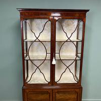 Spectacular Edwardian Chippendale Design Antique Display Cabinet (4 of 9)