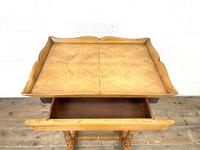 Antique Satin Birch Tray Top Side Table (9 of 10)