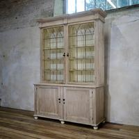 19th Century Gothic Bleached Pine Cabinet - Bookcase (3 of 15)