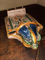 Baroque Italian Majolica Holy Water Stoup c.1740 (7 of 10)