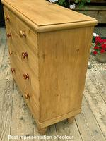 Fabulous & Large Old Pine Chest of Drawers (4 of 8)