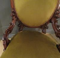 Carved Walnut Armchair New Upholstery fully restored (9 of 9)
