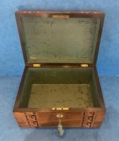 Victorian Walnut Jewellery Box with Tunbridge Ware Inlaid Bands (11 of 11)