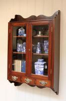 Mahogany Glazed Wall Cabinet (7 of 10)