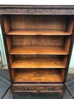 Antique Glazed Oak Barley Twist Bookcase (4 of 11)