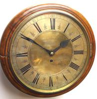 English Dial Wall Clock Rare Station Public Fusee Dial Wall Clock by Sam Aldworth at Childrey Berkshire (3 of 12)