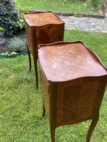 Pair of French Marquetry Bedside Tables in Kingwood (5 of 9)