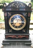 Exquisite 1870's French Slate / Marble Mantle Clock.