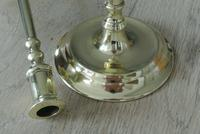 Pair of Quality 17th Century Style Brass Candlestick Pearson Page c.1910 (6 of 9)