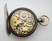 Antique Gun Metal Omega Pocket Watch c.1910 (5 of 5)
