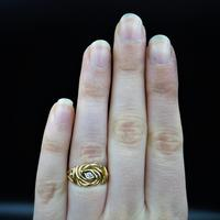 Antique Diamond Lovers Knot 18ct Gold Ring (5 of 7)