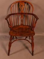 Yew Wood low Windsor Chair Rockley Maker (9 of 10)
