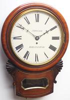 Rare Antique Drop Dial Wall Clock 8 Day Single Fusee Movement (4 of 13)