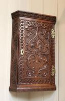 Mid 19th Century Carved Oak Corner Wall Cabinet (5 of 8)