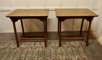 Pair of Arts & Crafts Elm Tables