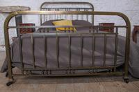 Fashionable simple French naturally aged brass kingsize bed (6 of 6)