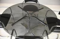 Retro Chrome Glass Dining Table (7 of 13)
