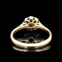 Vintage Diamond Cluster Flower Daisy 18ct 18K Yellow Gold Ring (4 of 10)