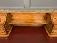 Inlaid Satinwood Carlton House Desk by Jas Shoolbred (16 of 25)
