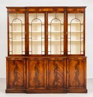 Regency Style 4 Door Breakfront Mahogany Bookcase (3 of 9)