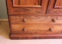 Antique Victorian Mahogany Triple Door Wardrobe (5 of 21)