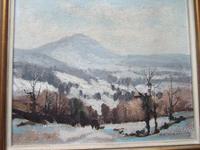 "Aubrey R Phillips RWA (1920-2005):  Oil On Board Landscape ""Winter at Malvern"" (2 of 5)"