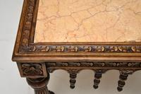 Antique Carved Marble Top Coffee Table (6 of 14)