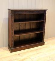 Dark Oak Open Bookcase (6 of 11)