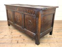 18th Century Carved Oak Blanket Box (8 of 11)