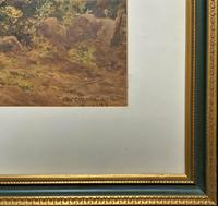 William Charles Goddard (exh.1885) Stunning Country Watermill Landscape Painting (12 of 15)