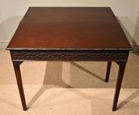 18th Century Carved Mahogany Tea Table (2 of 7)