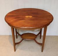 Oval Inlaid Occasional Mahogany Table (9 of 9)