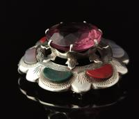Victorian Scottish Agate & Amethyst Brooch, Sterling Silver (8 of 11)
