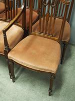 Set of 8 Hepplewhite Style Dining Chairs (4 of 11)