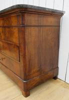 Antique Louis Philippe Walnut Marble Top Chest of Drawers (5 of 11)