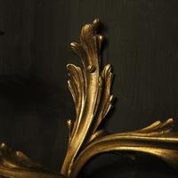 French Pair of Gilded Antique Wall Sconces (4 of 10)