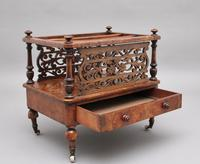 19th Century Burr Walnut Canterbury of Nice Proportions (2 of 10)