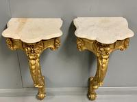 Pair of 19th Century French Gilt Console Pier Tables (13 of 13)