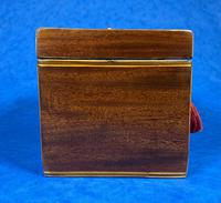 18th Century Mahogany  Shell Inlaid Tea Caddy (12 of 18)