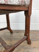 Pair of Antique Victorian Gothic Oak Chairs with Floral Upholstery (7 of 10)