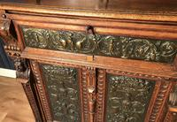 Victorian Carved Oak Secretaire Bookcase (15 of 25)