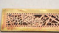 "Pair Tiffany Studios 12"" Brass Plated Desk Set  Blotter Ends 998  Grapevine (9 of 15)"