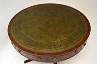 Antique  Regency  Style Mahogany & Leather Drum Table (3 of 10)