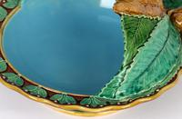 Minton Majolica Pottery Pedestal Chestnut Dish Dated 1867 (4 of 14)