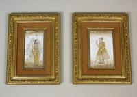 Good Pair of 19th Century Indian Paintings Aurangzeb & Dilras Banu Begum (2 of 11)