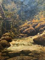 H Sinclair Jackson Superb 19th Century Watermill Landscape Oil Painting (5 of 14)