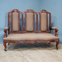 Mahogany Carved Couch (2 of 9)