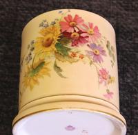 Antique Royal Worcester Blush Ivory Lidded Jar (5 of 8)